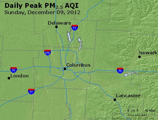 Peak Particles PM<sub>2.5</sub> (24-hour) - http://files.airnowtech.org/airnow/2012/20121209/peak_pm25_columbus_oh.jpg
