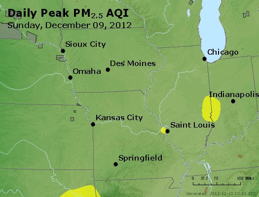 Peak Particles PM<sub>2.5</sub> (24-hour) - http://files.airnowtech.org/airnow/2012/20121209/peak_pm25_ia_il_mo.jpg