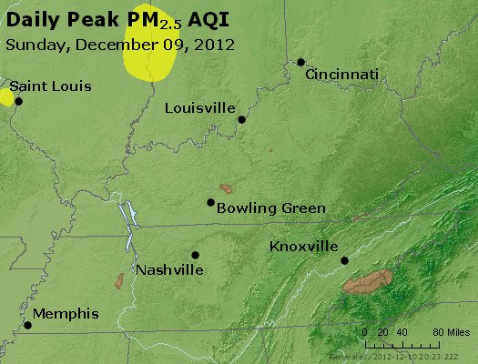 Peak Particles PM<sub>2.5</sub> (24-hour) - http://files.airnowtech.org/airnow/2012/20121209/peak_pm25_ky_tn.jpg