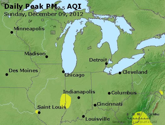 Peak Particles PM<sub>2.5</sub> (24-hour) - http://files.airnowtech.org/airnow/2012/20121209/peak_pm25_mi_in_oh.jpg