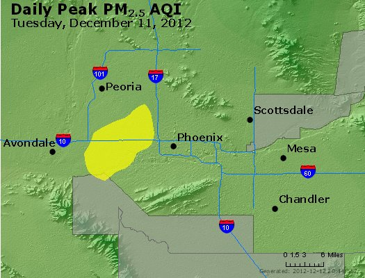 Peak Particles PM<sub>2.5</sub> (24-hour) - http://files.airnowtech.org/airnow/2012/20121211/peak_pm25_phoenix_az.jpg