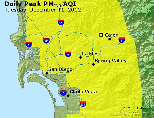 Peak Particles PM<sub>2.5</sub> (24-hour) - http://files.airnowtech.org/airnow/2012/20121211/peak_pm25_sandiego_ca.jpg