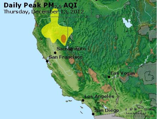 Peak Particles PM<sub>2.5</sub> (24-hour) - http://files.airnowtech.org/airnow/2012/20121213/peak_pm25_ca_nv.jpg