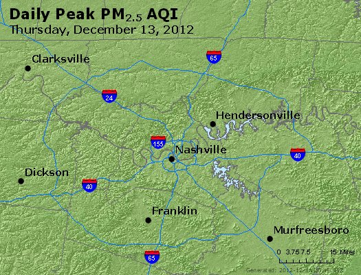 Peak Particles PM<sub>2.5</sub> (24-hour) - http://files.airnowtech.org/airnow/2012/20121213/peak_pm25_nashville_tn.jpg