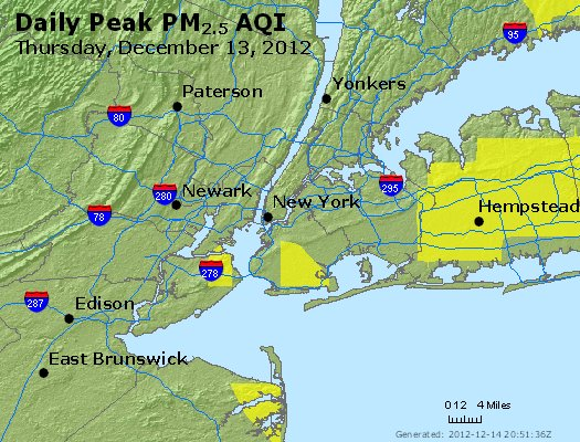 Peak Particles PM<sub>2.5</sub> (24-hour) - http://files.airnowtech.org/airnow/2012/20121213/peak_pm25_newyork_ny.jpg