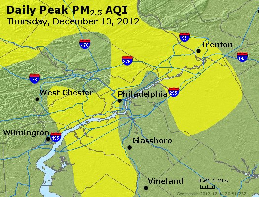 Peak Particles PM<sub>2.5</sub> (24-hour) - http://files.airnowtech.org/airnow/2012/20121213/peak_pm25_philadelphia_pa.jpg