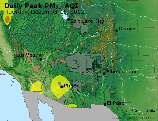 Peak Particles PM<sub>2.5</sub> (24-hour) - http://files.airnowtech.org/airnow/2012/20121218/peak_pm25_co_ut_az_nm.jpg