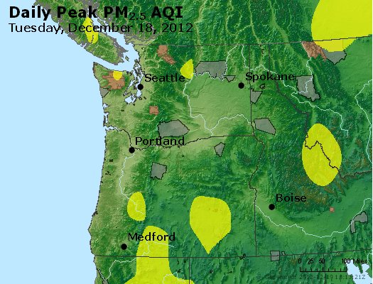 Peak Particles PM<sub>2.5</sub> (24-hour) - http://files.airnowtech.org/airnow/2012/20121218/peak_pm25_wa_or.jpg