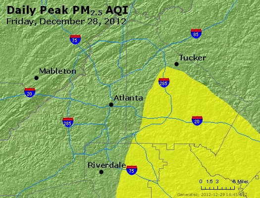 Peak Particles PM<sub>2.5</sub> (24-hour) - http://files.airnowtech.org/airnow/2012/20121228/peak_pm25_atlanta_ga.jpg