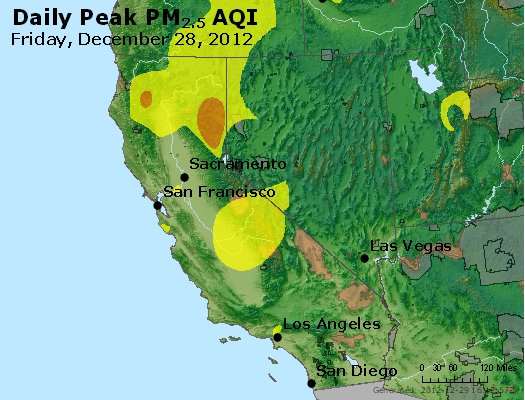 Peak Particles PM<sub>2.5</sub> (24-hour) - http://files.airnowtech.org/airnow/2012/20121228/peak_pm25_ca_nv.jpg