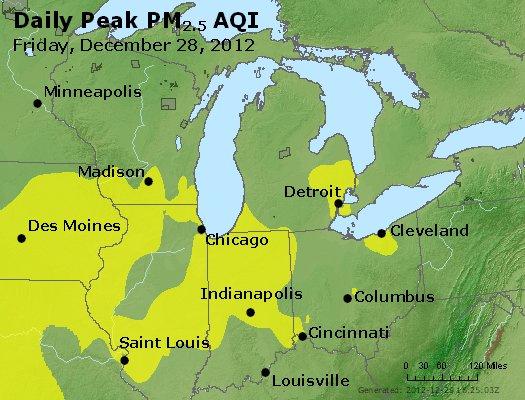 Peak Particles PM<sub>2.5</sub> (24-hour) - http://files.airnowtech.org/airnow/2012/20121228/peak_pm25_mi_in_oh.jpg