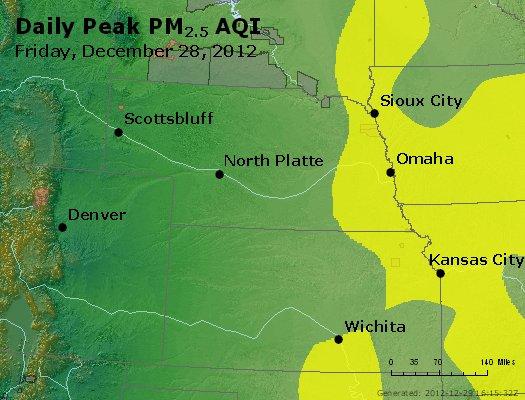 Peak Particles PM<sub>2.5</sub> (24-hour) - http://files.airnowtech.org/airnow/2012/20121228/peak_pm25_ne_ks.jpg