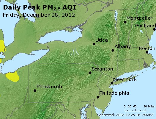 Peak Particles PM<sub>2.5</sub> (24-hour) - http://files.airnowtech.org/airnow/2012/20121228/peak_pm25_ny_pa_nj.jpg