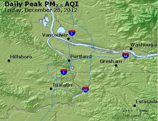 Peak Particles PM<sub>2.5</sub> (24-hour) - http://files.airnowtech.org/airnow/2012/20121228/peak_pm25_portland_or.jpg