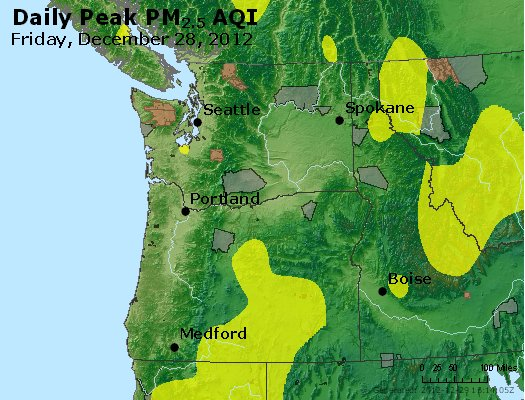 Peak Particles PM<sub>2.5</sub> (24-hour) - http://files.airnowtech.org/airnow/2012/20121228/peak_pm25_wa_or.jpg