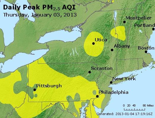 Peak Particles PM<sub>2.5</sub> (24-hour) - http://files.airnowtech.org/airnow/2013/20130103/peak_pm25_ny_pa_nj.jpg