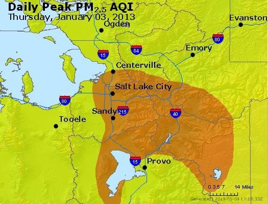 Peak Particles PM<sub>2.5</sub> (24-hour) - http://files.airnowtech.org/airnow/2013/20130103/peak_pm25_saltlakecity_ut.jpg