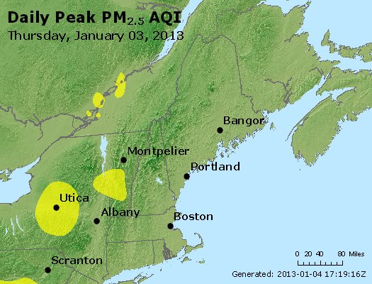 Peak Particles PM<sub>2.5</sub> (24-hour) - http://files.airnowtech.org/airnow/2013/20130103/peak_pm25_vt_nh_ma_ct_ri_me.jpg
