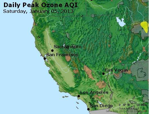 Peak Ozone (8-hour) - http://files.airnowtech.org/airnow/2013/20130105/peak_o3_ca_nv.jpg