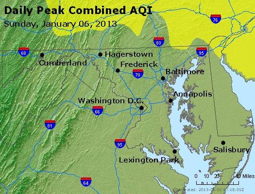 Peak AQI - http://files.airnowtech.org/airnow/2013/20130106/peak_aqi_maryland.jpg