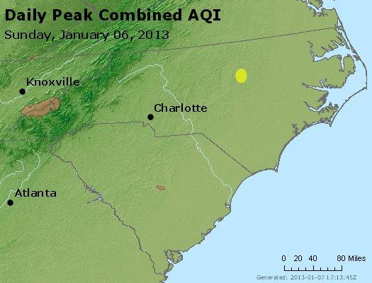 Peak AQI - http://files.airnowtech.org/airnow/2013/20130106/peak_aqi_nc_sc.jpg