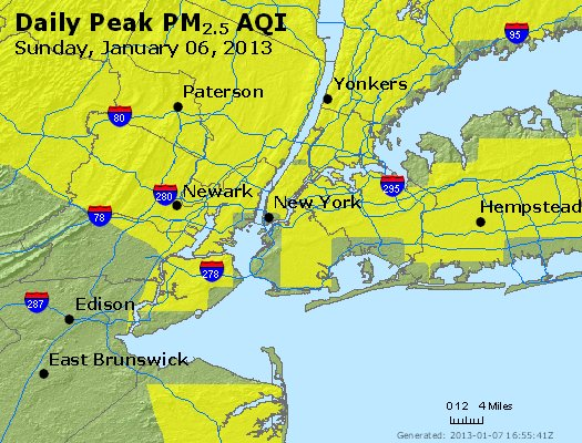 Peak Particles PM<sub>2.5</sub> (24-hour) - http://files.airnowtech.org/airnow/2013/20130106/peak_pm25_newyork_ny.jpg