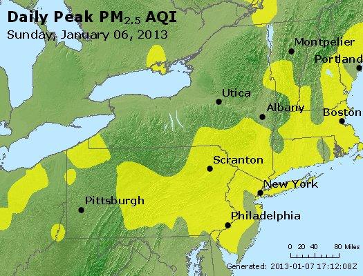 Peak Particles PM<sub>2.5</sub> (24-hour) - http://files.airnowtech.org/airnow/2013/20130106/peak_pm25_ny_pa_nj.jpg