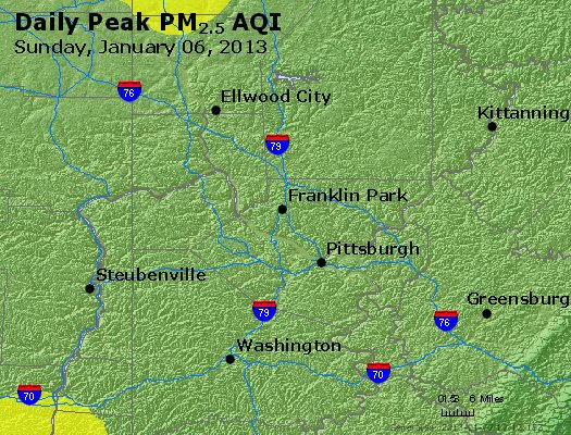 Peak Particles PM<sub>2.5</sub> (24-hour) - http://files.airnowtech.org/airnow/2013/20130106/peak_pm25_pittsburgh_pa.jpg
