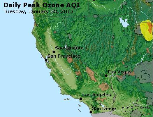 Peak Ozone (8-hour) - http://files.airnowtech.org/airnow/2013/20130108/peak_o3_ca_nv.jpg