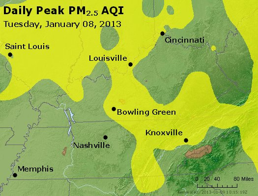 Peak Particles PM<sub>2.5</sub> (24-hour) - http://files.airnowtech.org/airnow/2013/20130108/peak_pm25_ky_tn.jpg