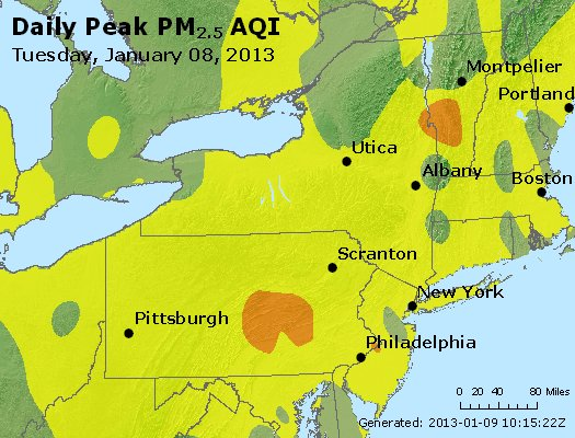 Peak Particles PM<sub>2.5</sub> (24-hour) - http://files.airnowtech.org/airnow/2013/20130108/peak_pm25_ny_pa_nj.jpg