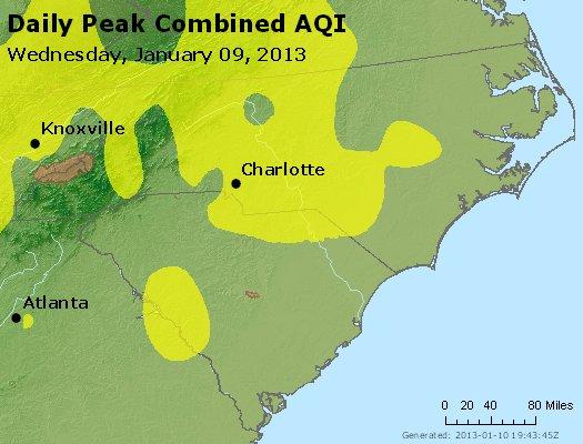 Peak AQI - http://files.airnowtech.org/airnow/2013/20130109/peak_aqi_nc_sc.jpg