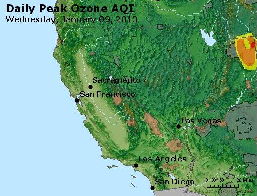 Peak Ozone (8-hour) - http://files.airnowtech.org/airnow/2013/20130109/peak_o3_ca_nv.jpg