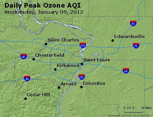 Peak Ozone (8-hour) - http://files.airnowtech.org/airnow/2013/20130109/peak_o3_stlouis_mo.jpg