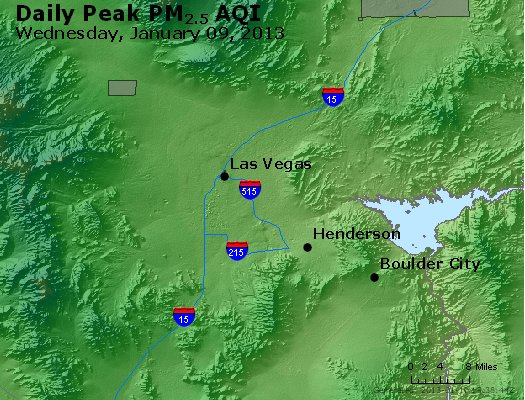 Peak Particles PM<sub>2.5</sub> (24-hour) - http://files.airnowtech.org/airnow/2013/20130109/peak_pm25_lasvegas_nv.jpg