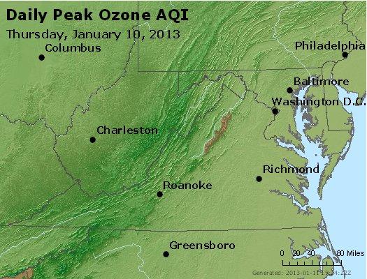 Peak Ozone (8-hour) - http://files.airnowtech.org/airnow/2013/20130110/peak_o3_va_wv_md_de_dc.jpg