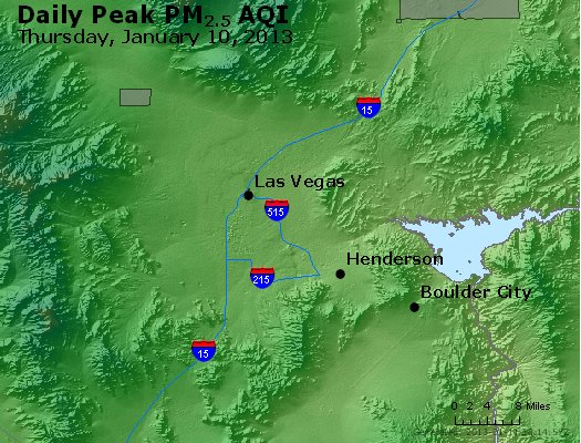 Peak Particles PM<sub>2.5</sub> (24-hour) - http://files.airnowtech.org/airnow/2013/20130110/peak_pm25_lasvegas_nv.jpg