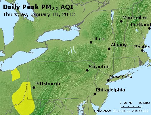 Peak Particles PM<sub>2.5</sub> (24-hour) - http://files.airnowtech.org/airnow/2013/20130110/peak_pm25_ny_pa_nj.jpg