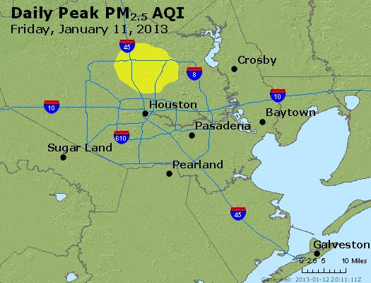 Peak Particles PM<sub>2.5</sub> (24-hour) - http://files.airnowtech.org/airnow/2013/20130111/peak_pm25_houston_tx.jpg