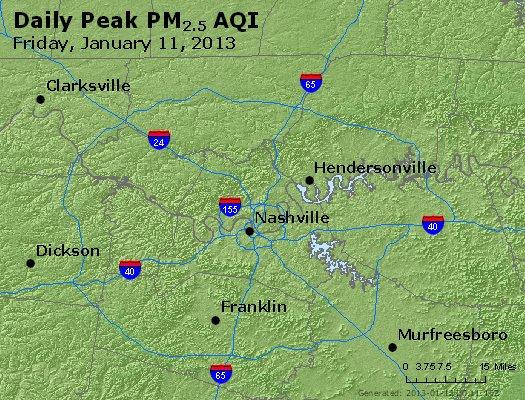 Peak Particles PM<sub>2.5</sub> (24-hour) - http://files.airnowtech.org/airnow/2013/20130111/peak_pm25_nashville_tn.jpg