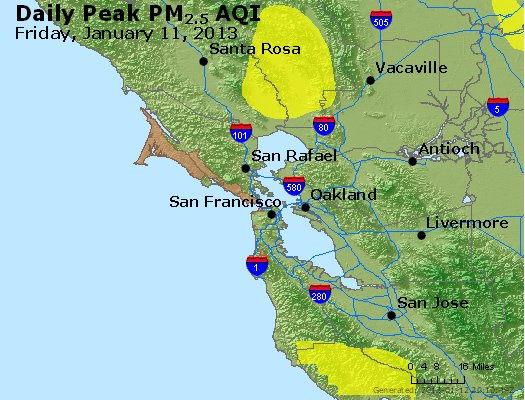 Peak Particles PM<sub>2.5</sub> (24-hour) - http://files.airnowtech.org/airnow/2013/20130111/peak_pm25_sanfrancisco_ca.jpg