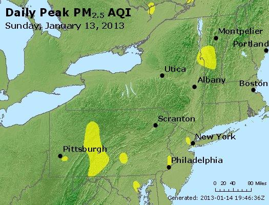 Peak Particles PM<sub>2.5</sub> (24-hour) - http://files.airnowtech.org/airnow/2013/20130113/peak_pm25_ny_pa_nj.jpg