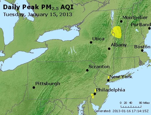Peak Particles PM<sub>2.5</sub> (24-hour) - http://files.airnowtech.org/airnow/2013/20130115/peak_pm25_ny_pa_nj.jpg
