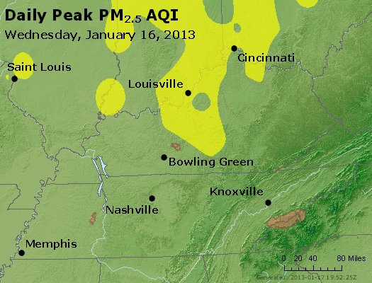 Peak Particles PM<sub>2.5</sub> (24-hour) - http://files.airnowtech.org/airnow/2013/20130116/peak_pm25_ky_tn.jpg