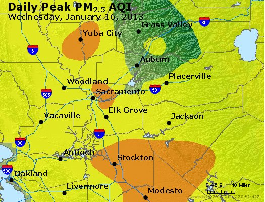 Peak Particles PM<sub>2.5</sub> (24-hour) - http://files.airnowtech.org/airnow/2013/20130116/peak_pm25_sacramento_ca.jpg