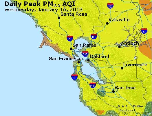 Peak Particles PM<sub>2.5</sub> (24-hour) - http://files.airnowtech.org/airnow/2013/20130116/peak_pm25_sanfrancisco_ca.jpg