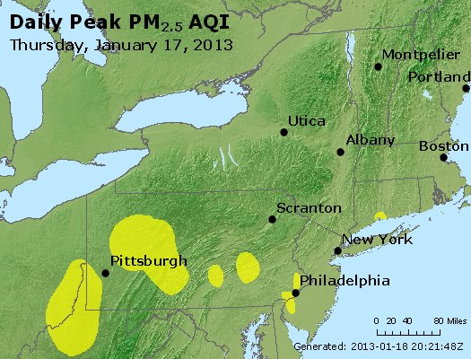 Peak Particles PM<sub>2.5</sub> (24-hour) - http://files.airnowtech.org/airnow/2013/20130117/peak_pm25_ny_pa_nj.jpg