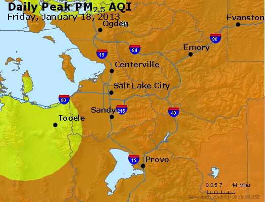 Peak Particles PM<sub>2.5</sub> (24-hour) - http://files.airnowtech.org/airnow/2013/20130118/peak_pm25_saltlakecity_ut.jpg