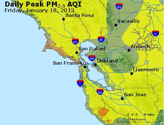 Peak Particles PM<sub>2.5</sub> (24-hour) - http://files.airnowtech.org/airnow/2013/20130118/peak_pm25_sanfrancisco_ca.jpg