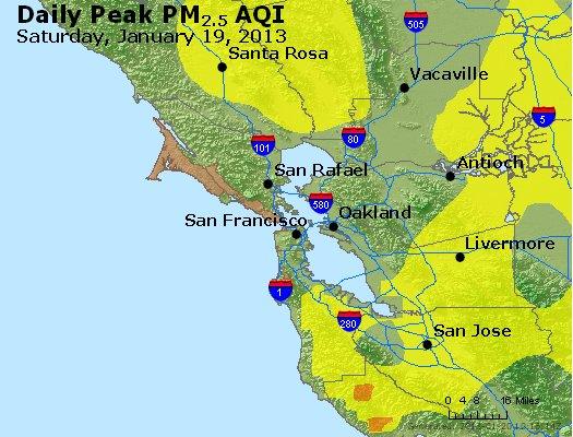 Peak Particles PM<sub>2.5</sub> (24-hour) - http://files.airnowtech.org/airnow/2013/20130119/peak_pm25_sanfrancisco_ca.jpg